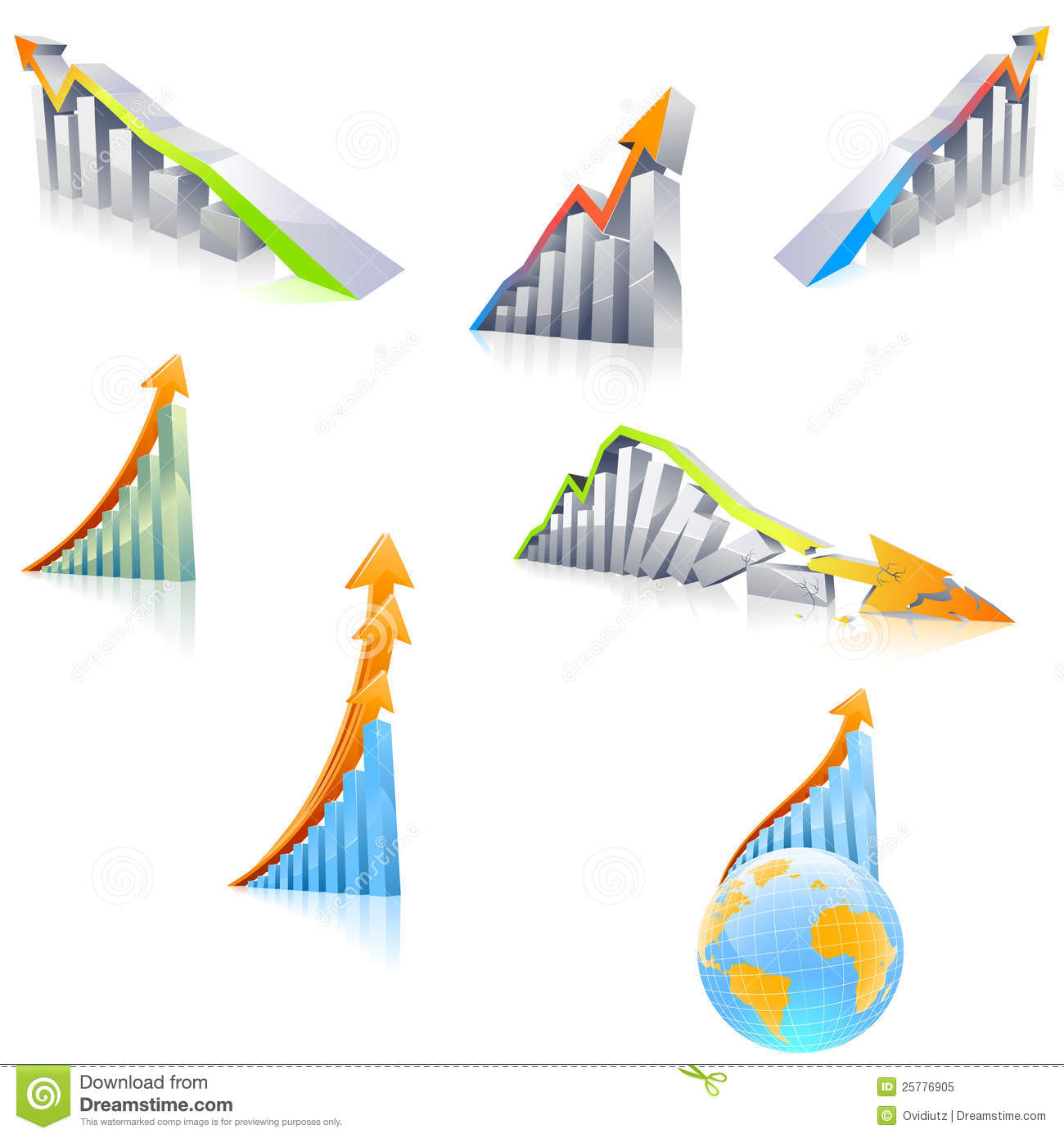 3d Diagram With Arrow Royalty Free Stock Photo Image