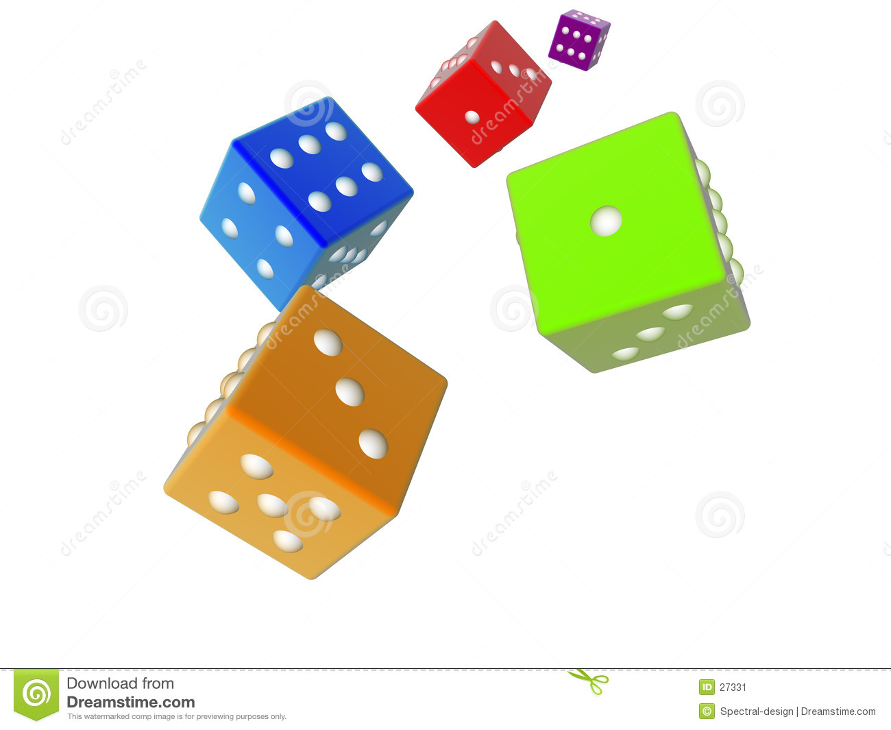 3D dices - colored