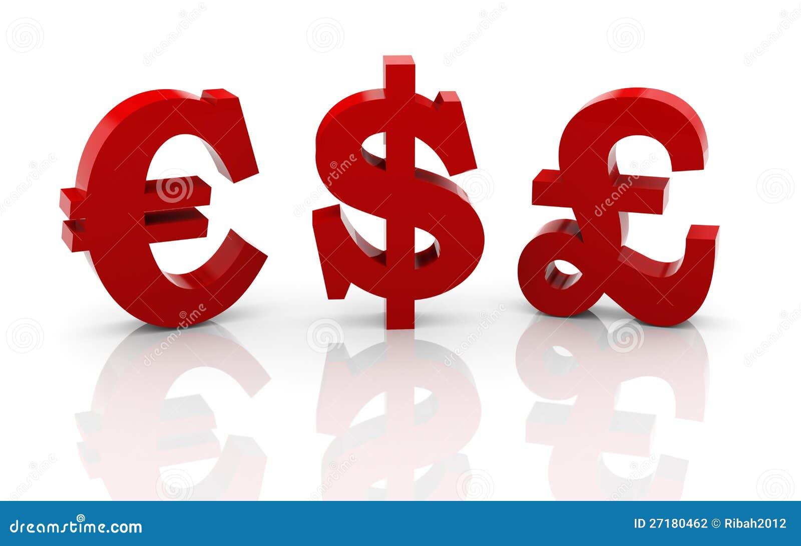 3d Different Currencies Symbols Stock Illustration Illustration Of