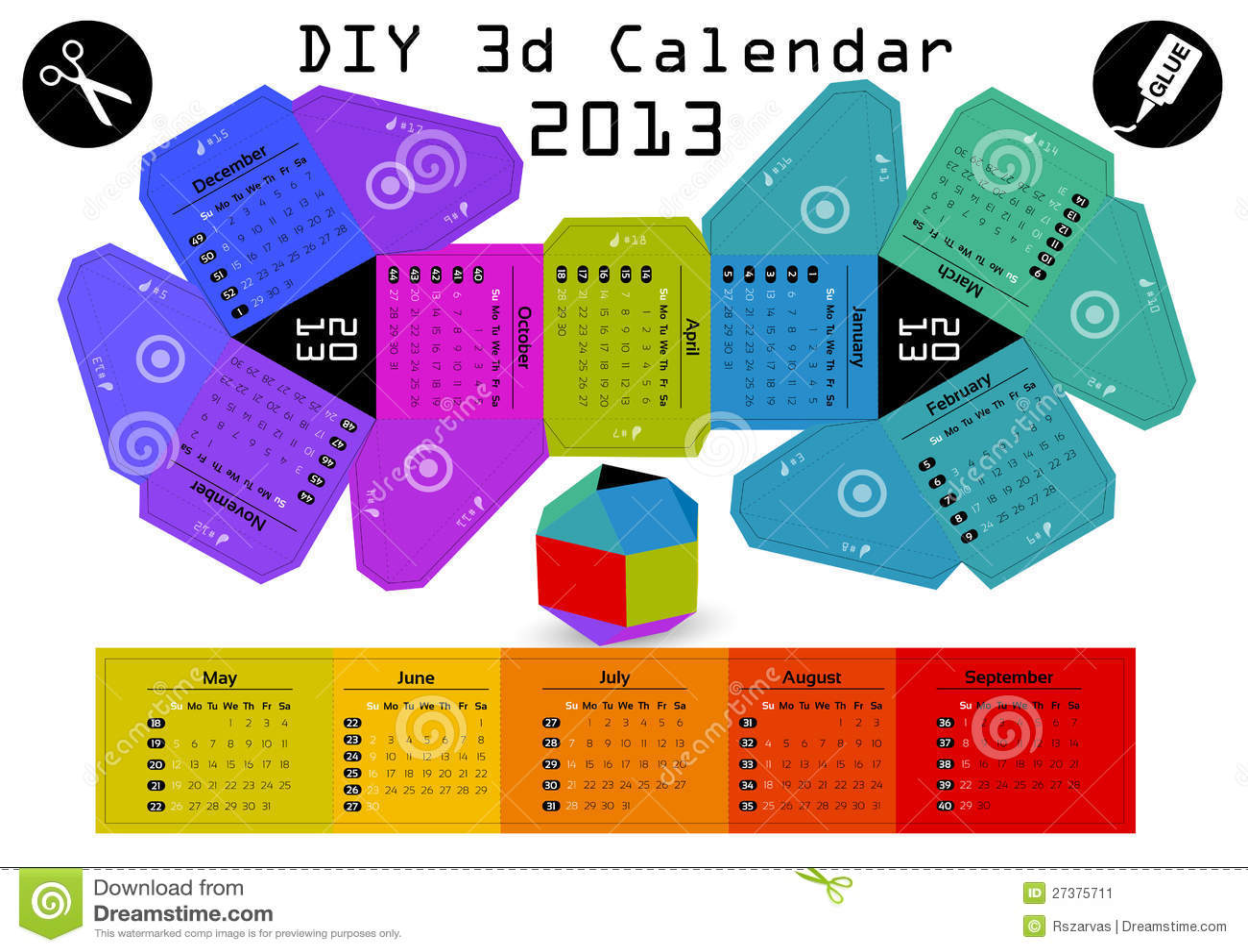 Diy Editorial Calendar : D diy calendar  inch compiled size