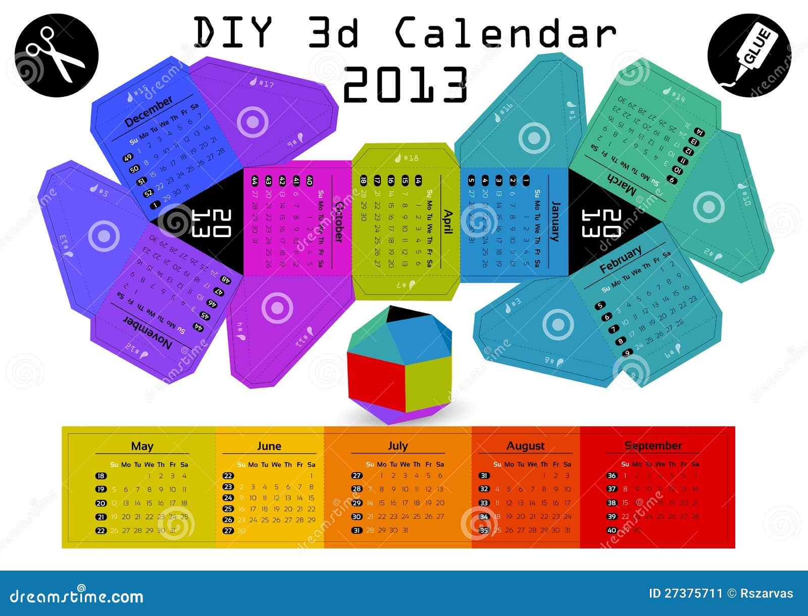 Diy Calendar Size : D diy calendar  inch compiled size stock