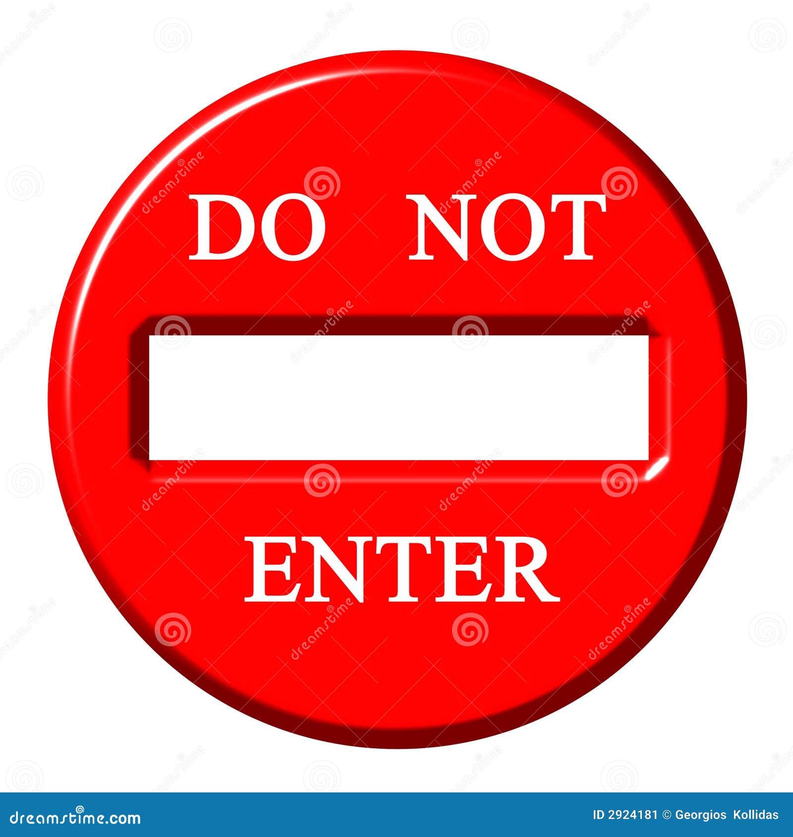 3d Do Not Enter Sign Stock Image