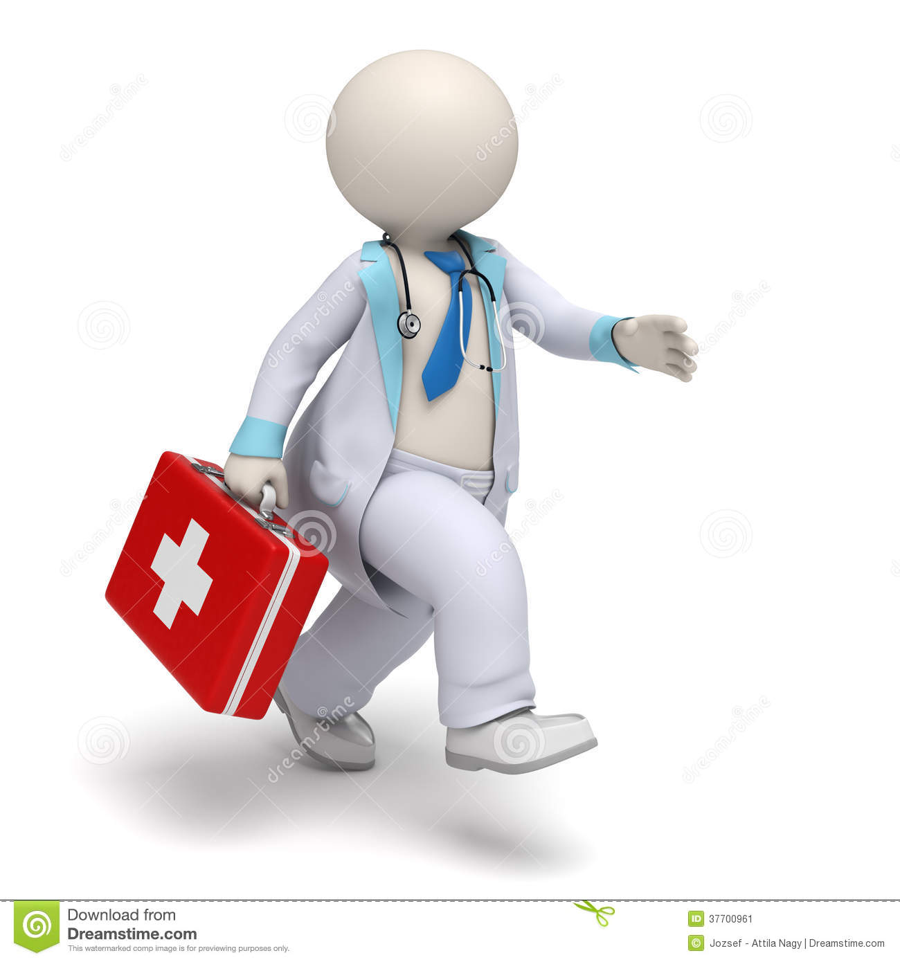 3d doctor big first aid case running emergency stock old person clip art images Old People Clip Art