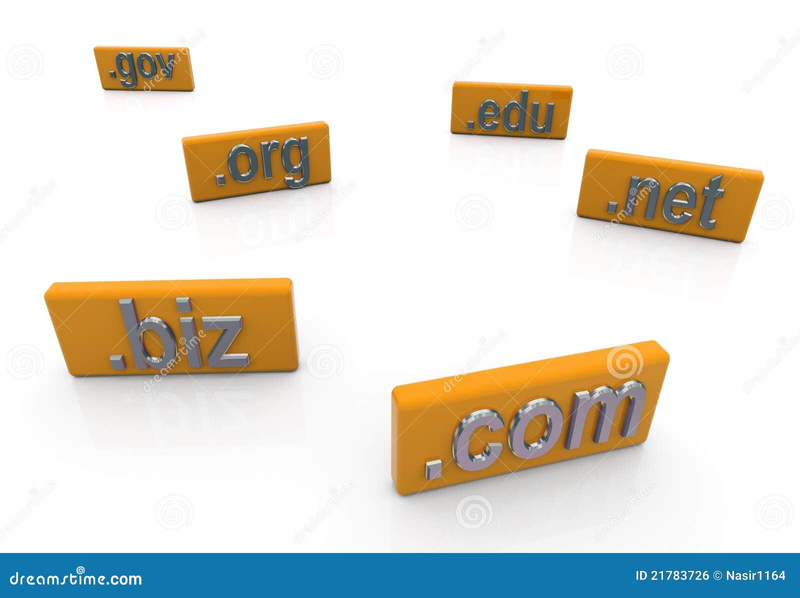 3d domain extension stock illustration  Illustration of