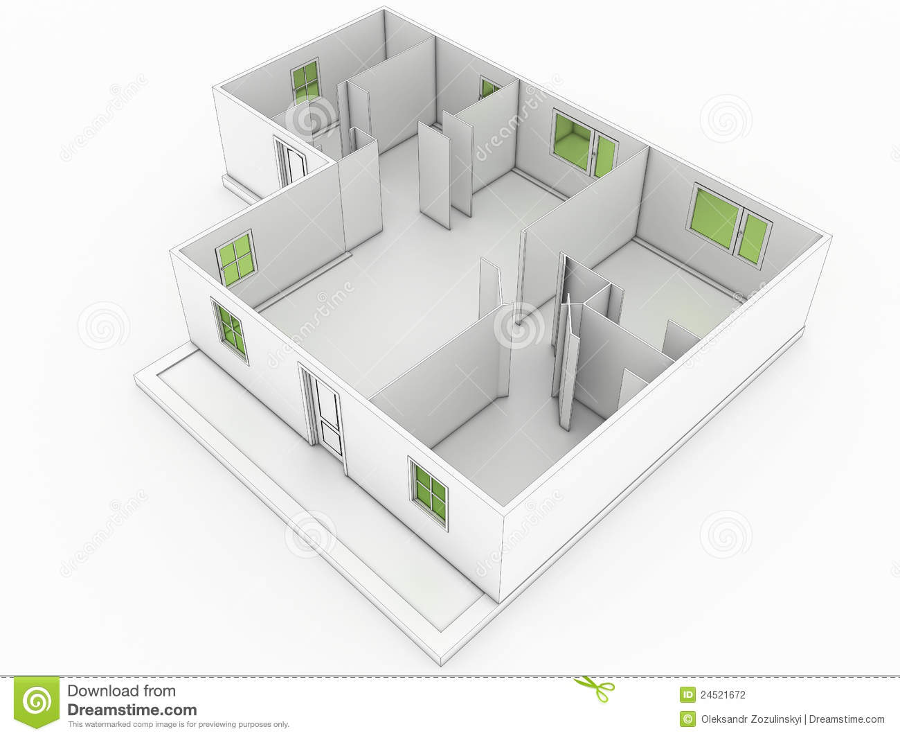 3d Drawing Of A Building 2