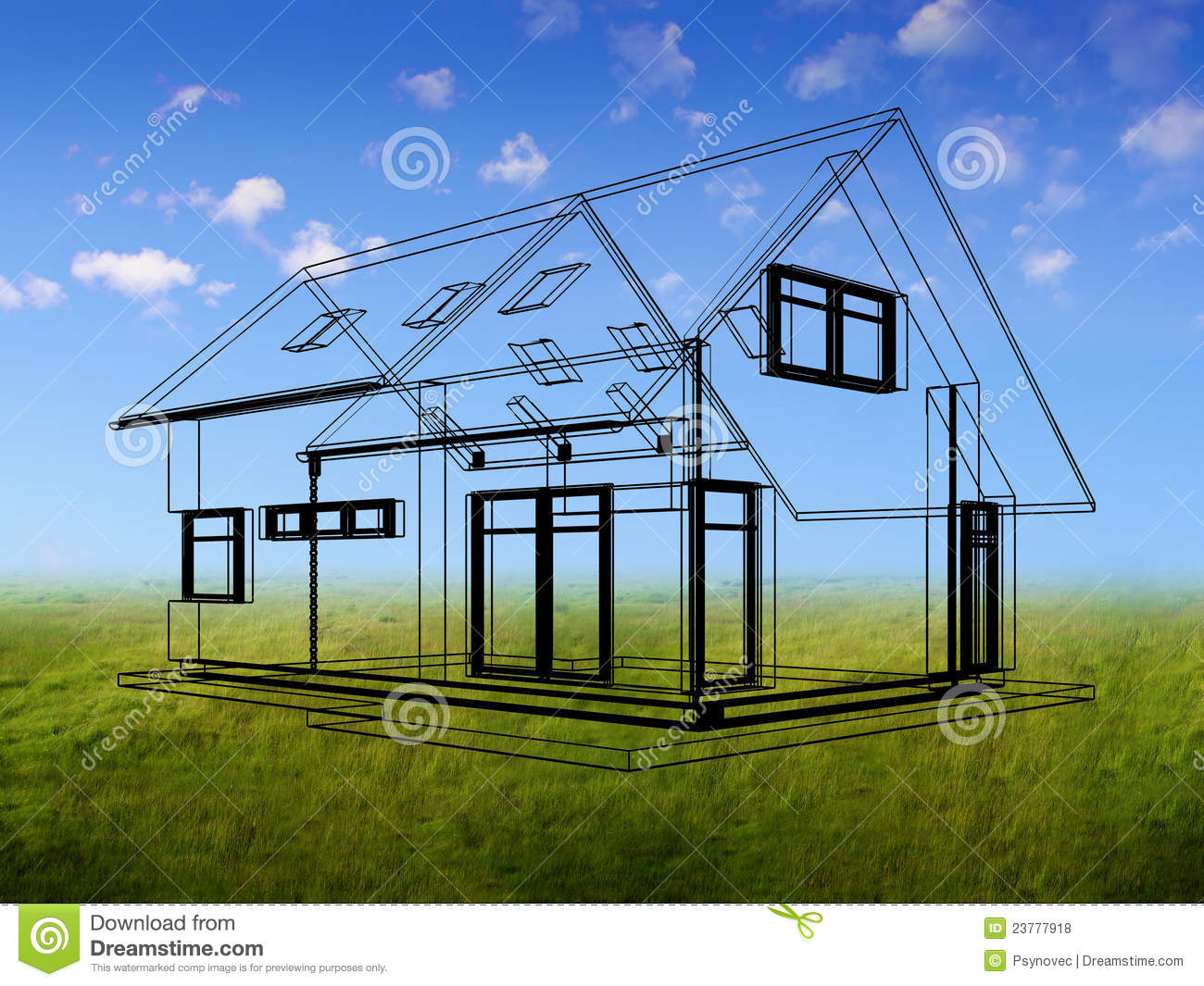 3d Drawing Of The House Royalty Free Stock Photos Image