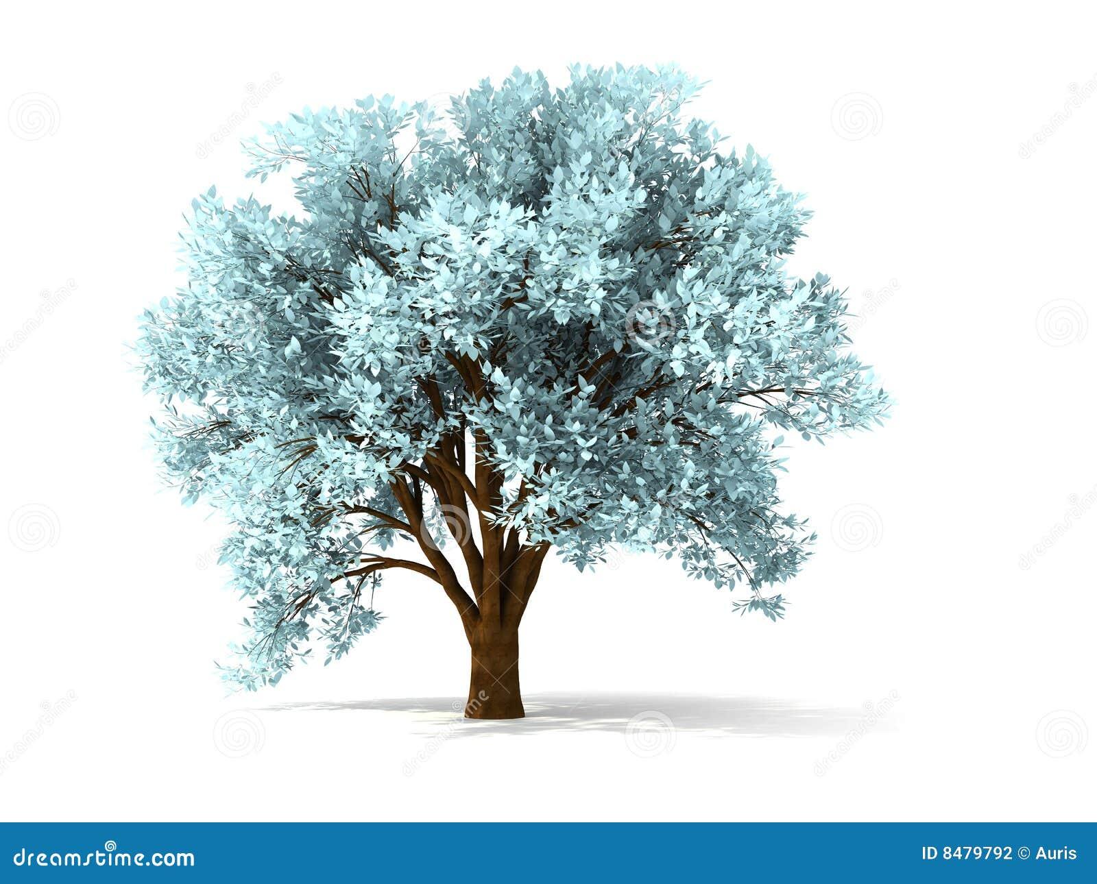 3d drzewo mroźny