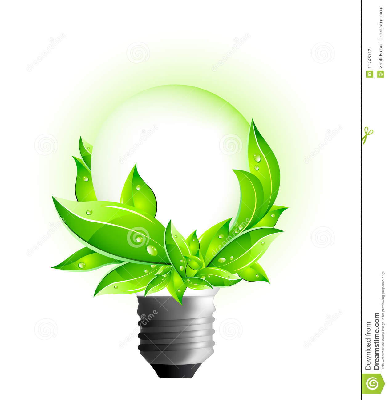 3d eco concept environmental light bulb stock. Black Bedroom Furniture Sets. Home Design Ideas