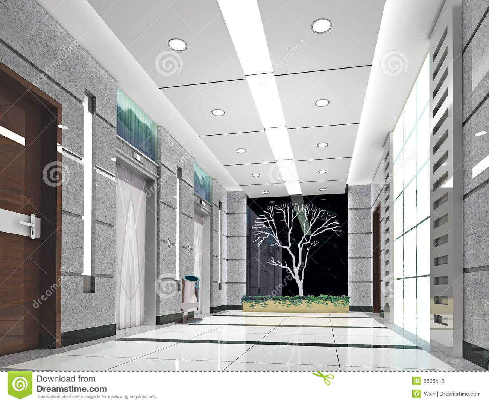 Stock Photos 3d Elevator Lobby Rendering Image9606513 on El Lobby Floor Plan Design