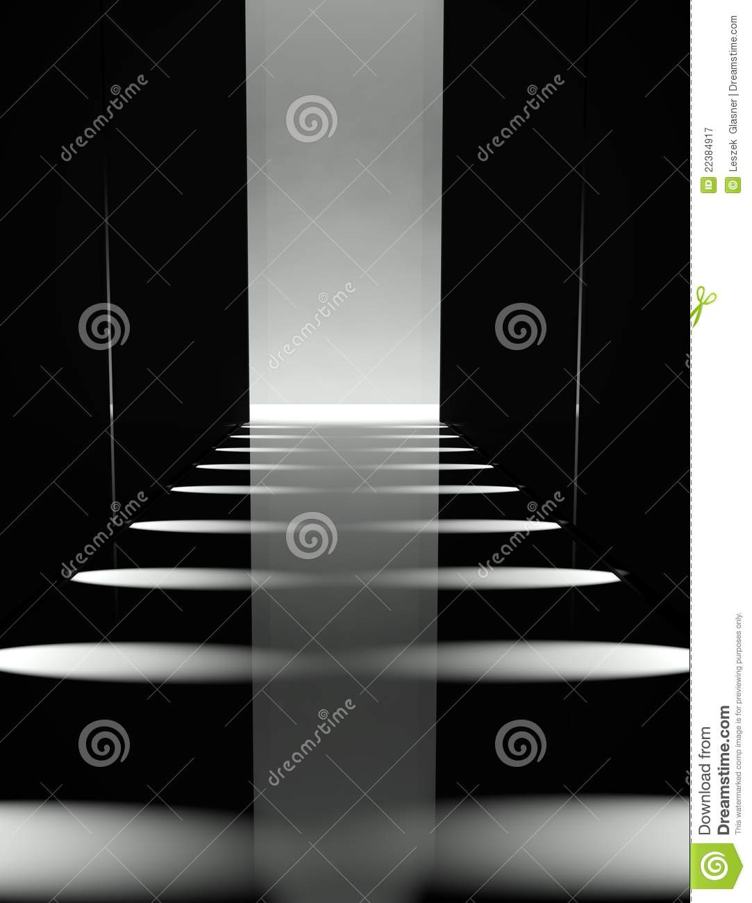 3d Empty Fashion Runway Royalty Free Stock Photography