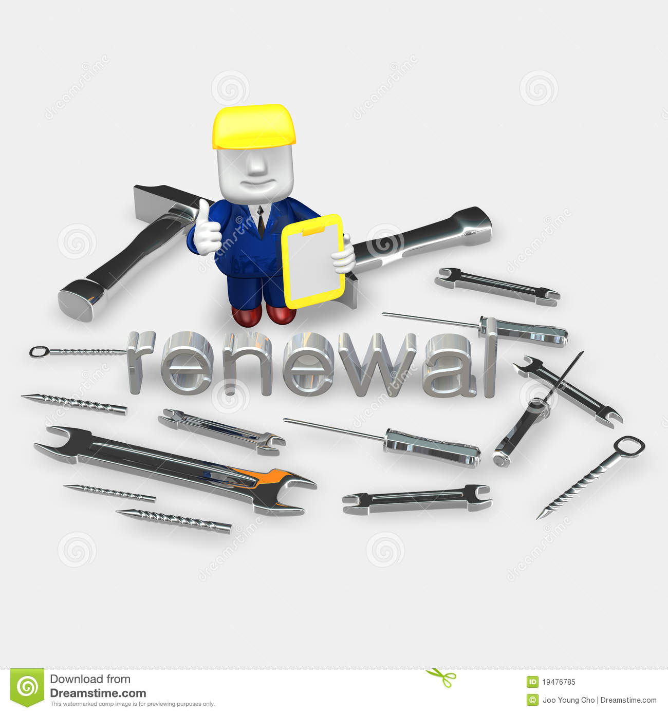 3d Engineer And Tools Royalty Free Stock Photo Image