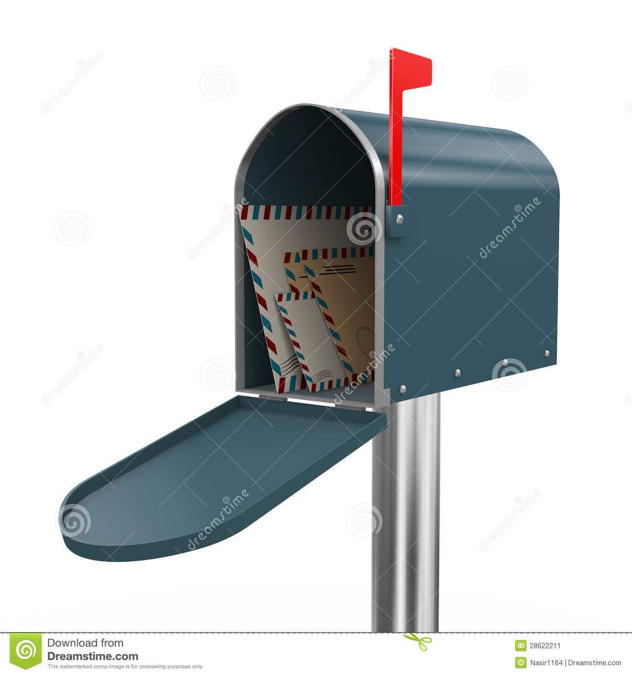 3d Envelopes In Mailbox Stock Image - Image: 28622211