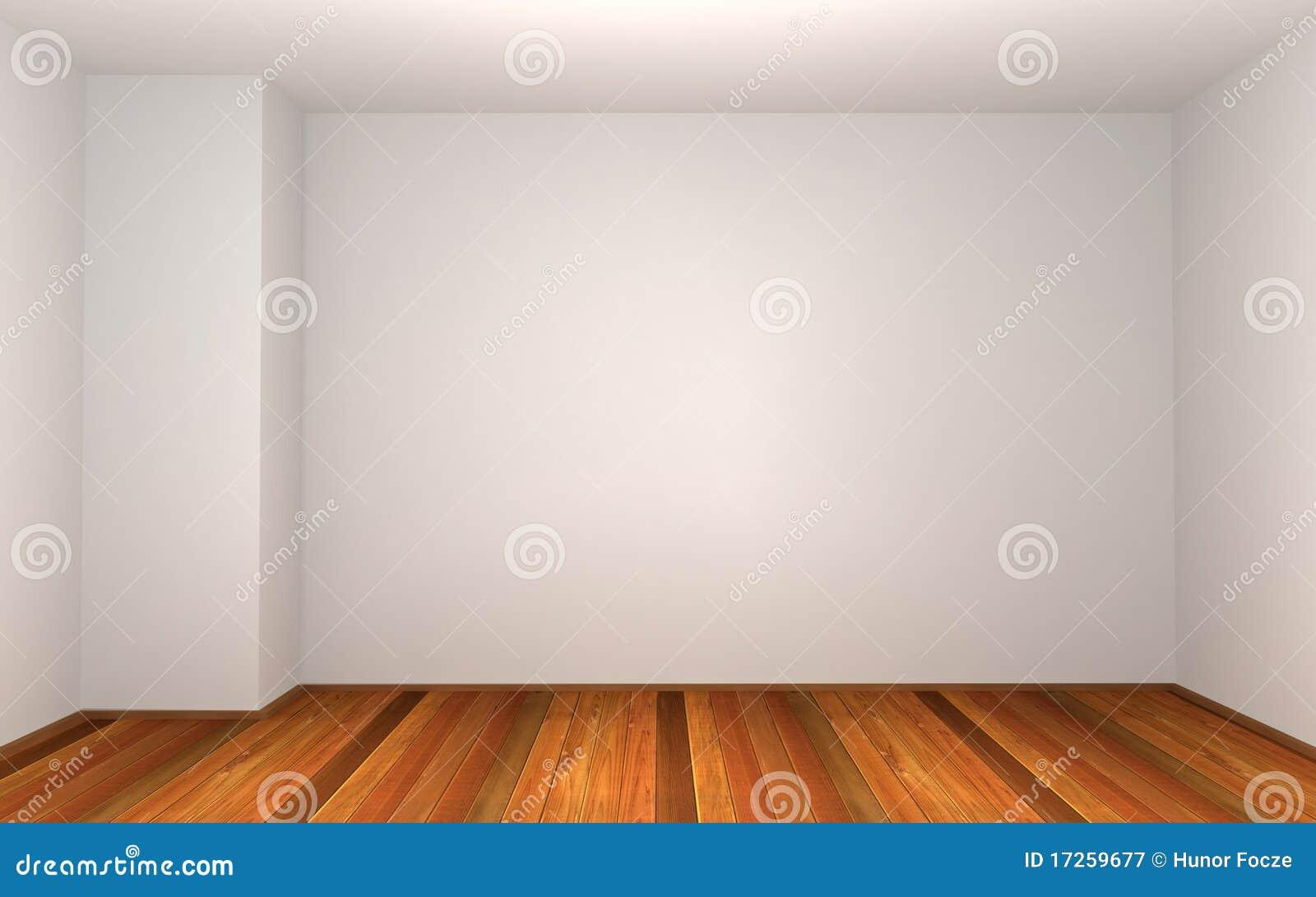 3d esvaziam o quarto com parede branca ilustra o stock for Pared de habitacion decorada