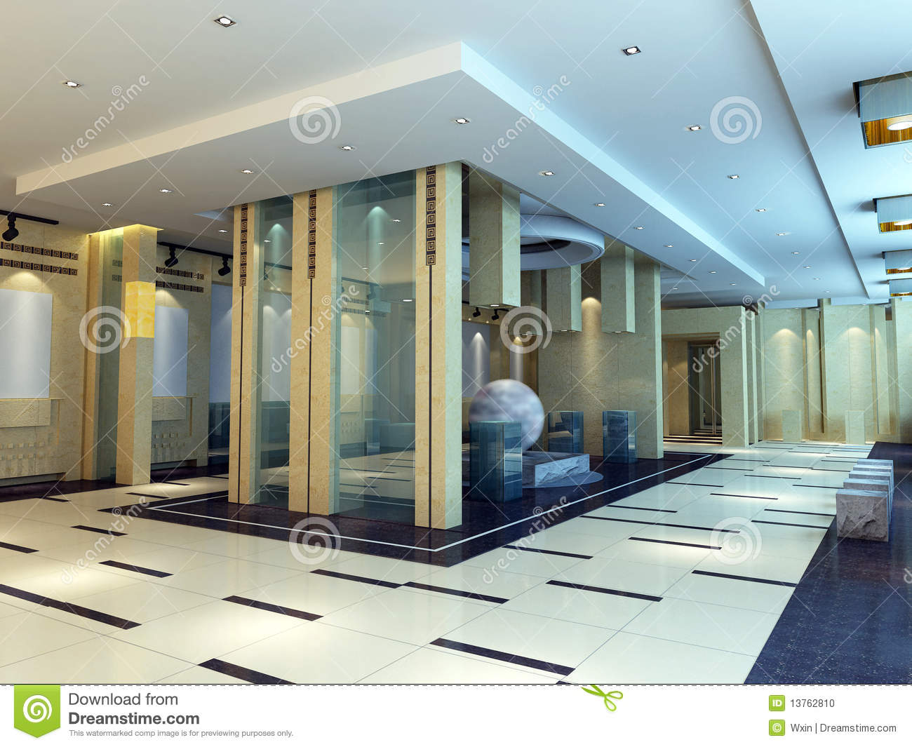 3d Exhibition Hall : D exhibition hall stock photo image