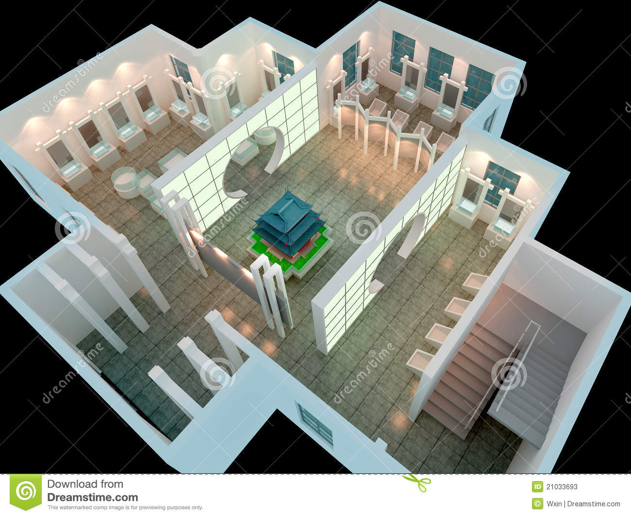 3d Exhibition Hall : D exhibition hall stock photos image