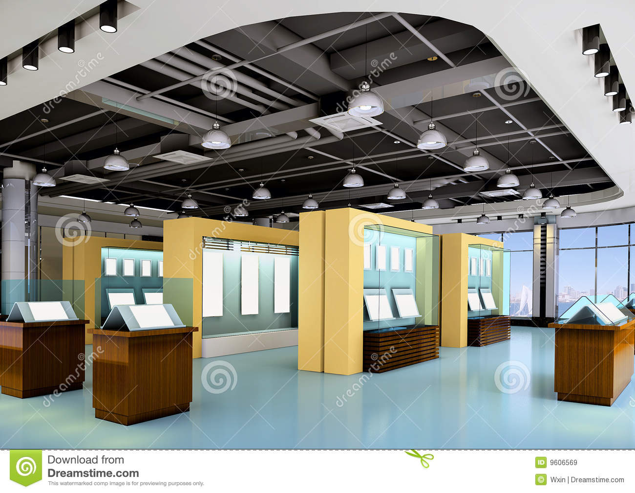 3d Exhibition Hall : D exhibition hall royalty free stock images image