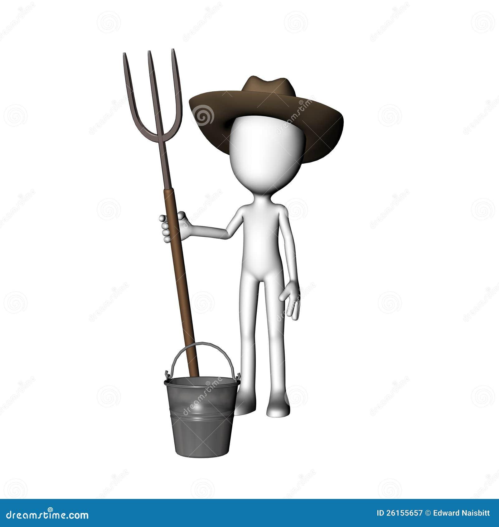 how to draw a farmer man