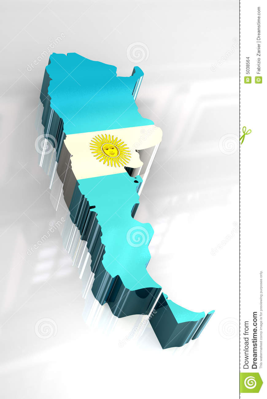 D Flag Map Of Argentina Stock Illustration Image Of Ripple - Argentina 3d map