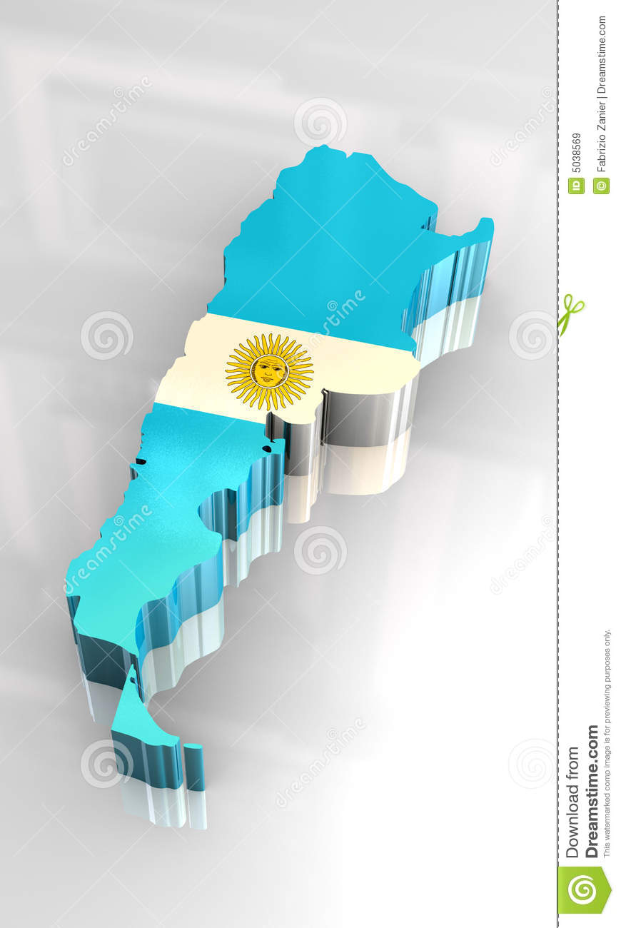 D Flag Map Of Argentina Royalty Free Stock Images Image - Argentina 3d map