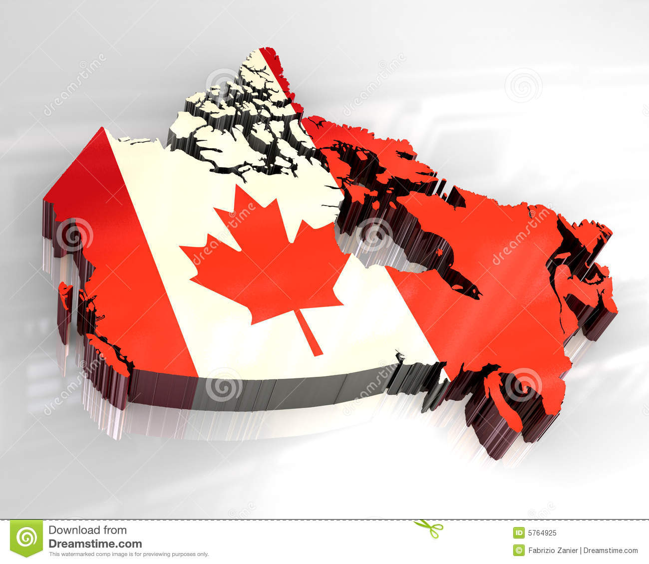 D Flag Map Of Canada Stock Illustration Image Of Illustration - Canada map with flag