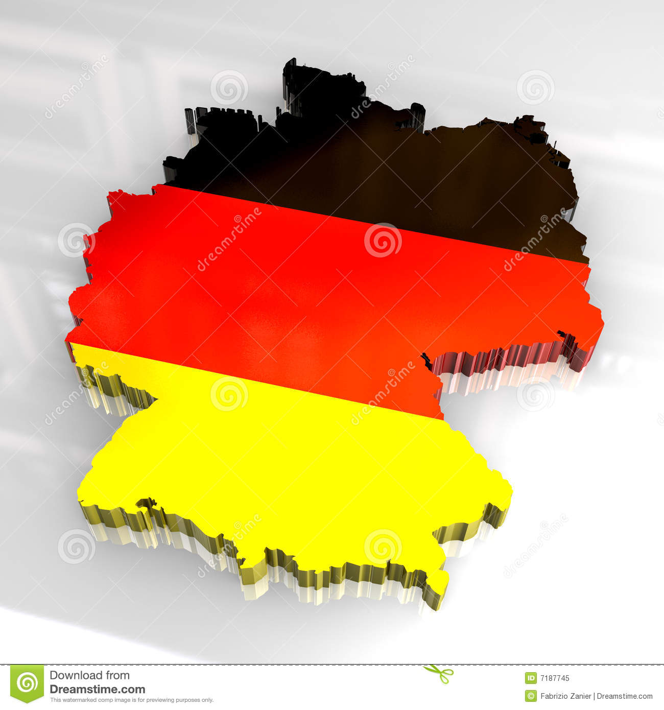 D Flag Map Of Germany Royalty Free Stock Photo Image - Germany map download