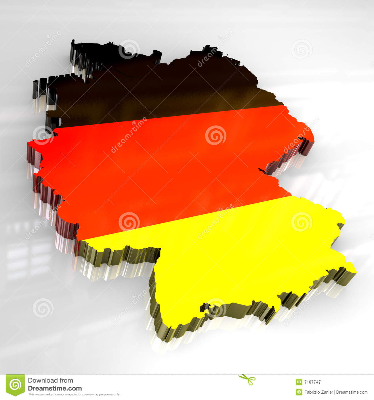 Map Of Germany 3d.3d Flag Map Of Germany Stock Illustration Illustration Of Rhine