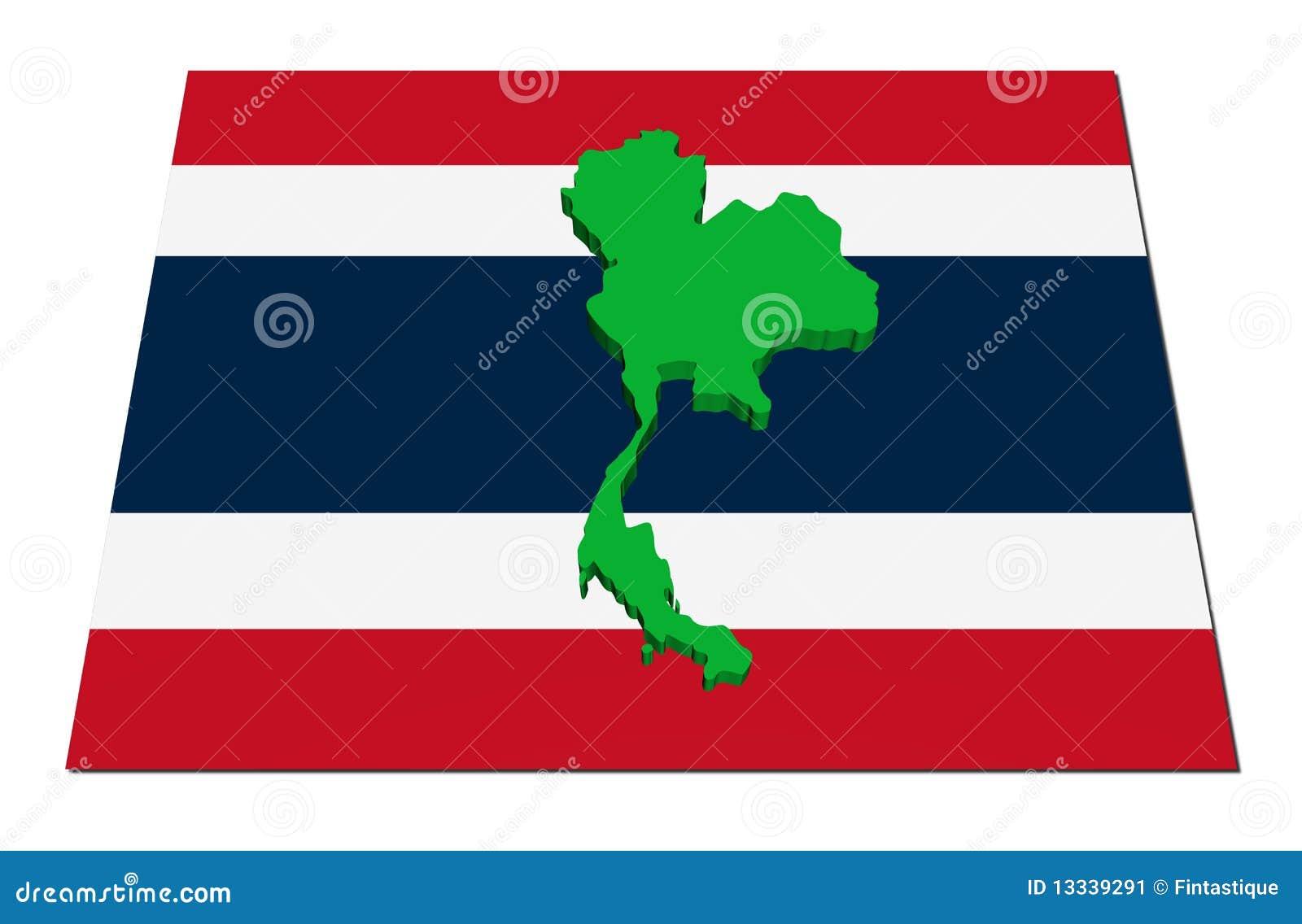3d flaga mapa Thailand