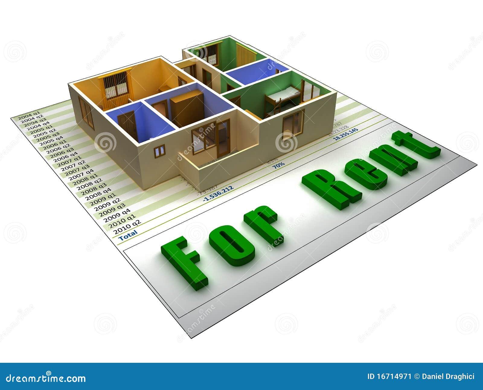 3D flat op een finacial dossier voor huur
