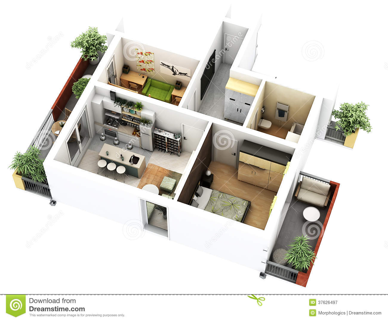 3d Floor Plan Royalty Free Stock Photography Image 37626497
