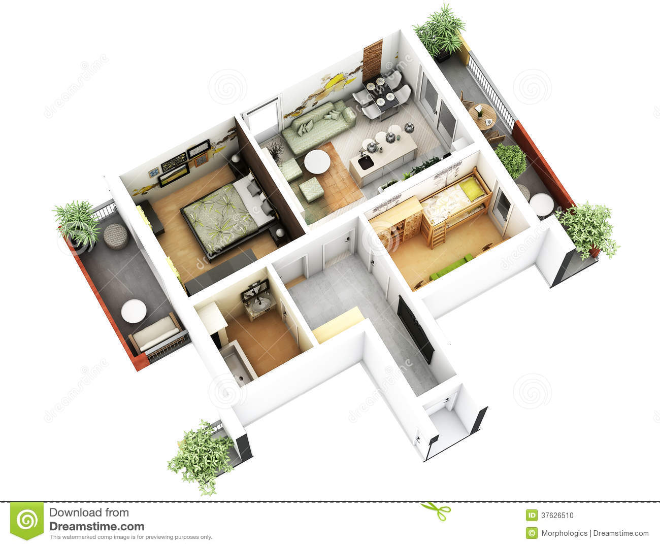 3d floor plan stock illustration image of generated for 3d floor plan online