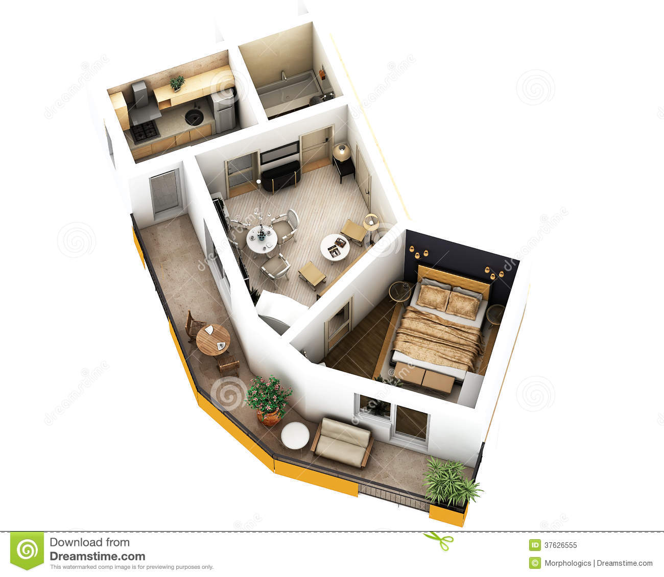 3d floor plan royalty free stock photo image 37626555 - Interior plan de campagne ...