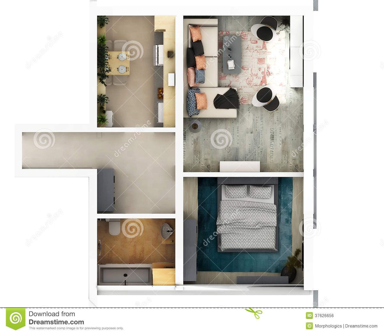 3d Floor Plan Royalty Free Stock Image Image 37626656