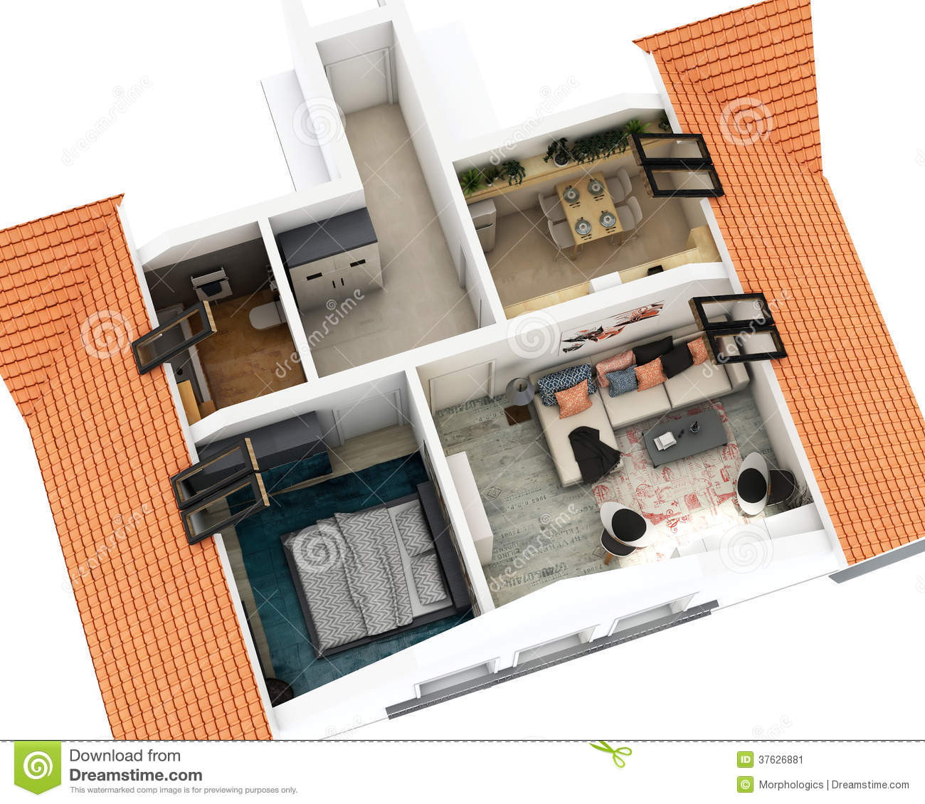 Appartement cartoons illustrations vector stock images for 3d appartement
