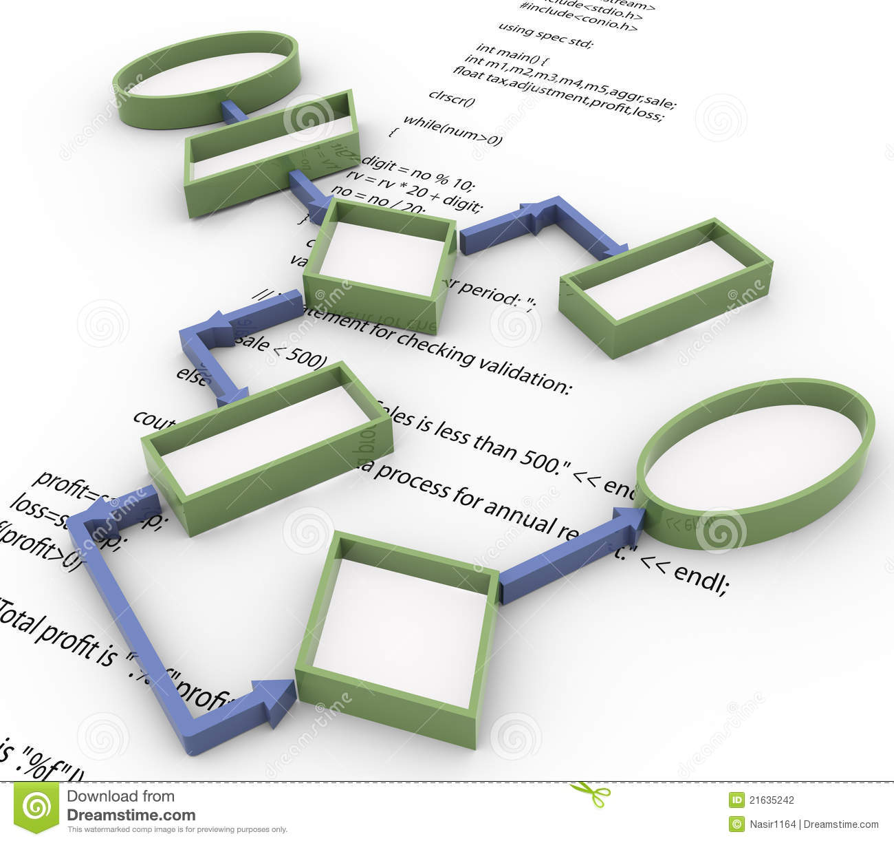 3d flowchart on code snippet background stock photography image 21635242 for 3d flow chart