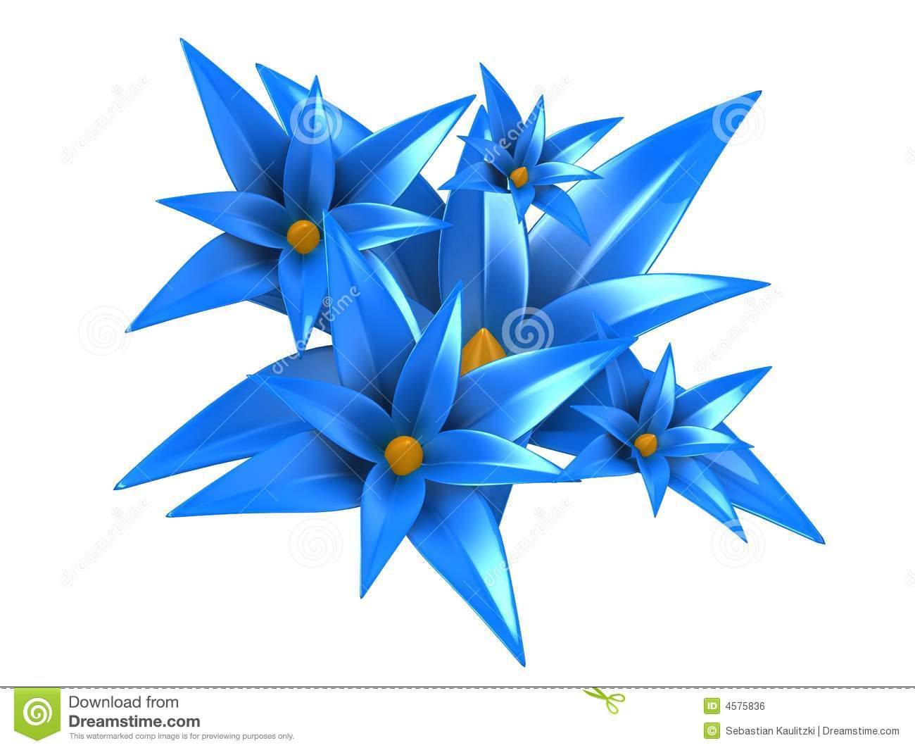 3d flowers stock illustration. illustration of decoration - 4575836