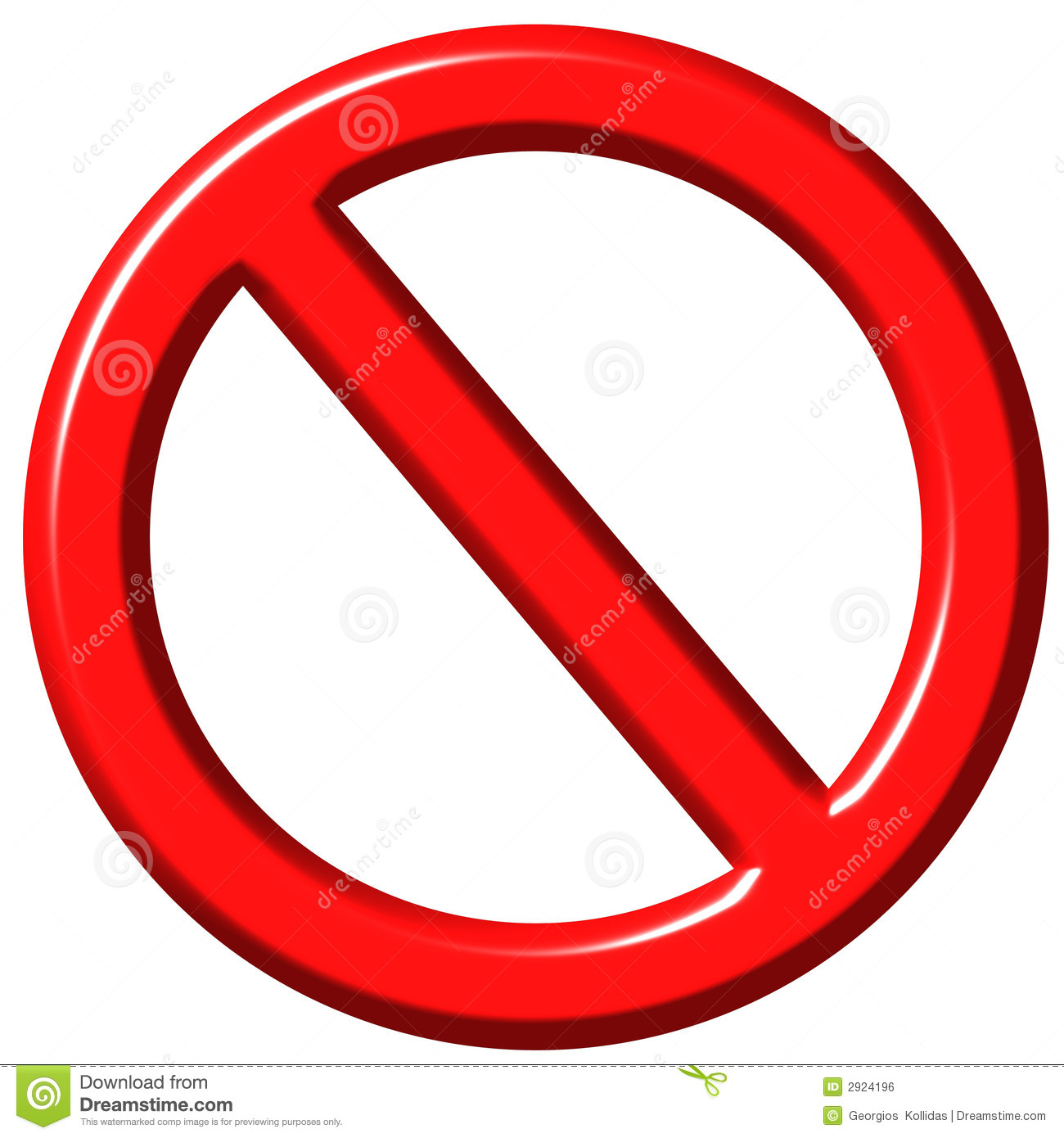 3D Forbidden Sign Royalty Free Stock Image - Image: 2924196