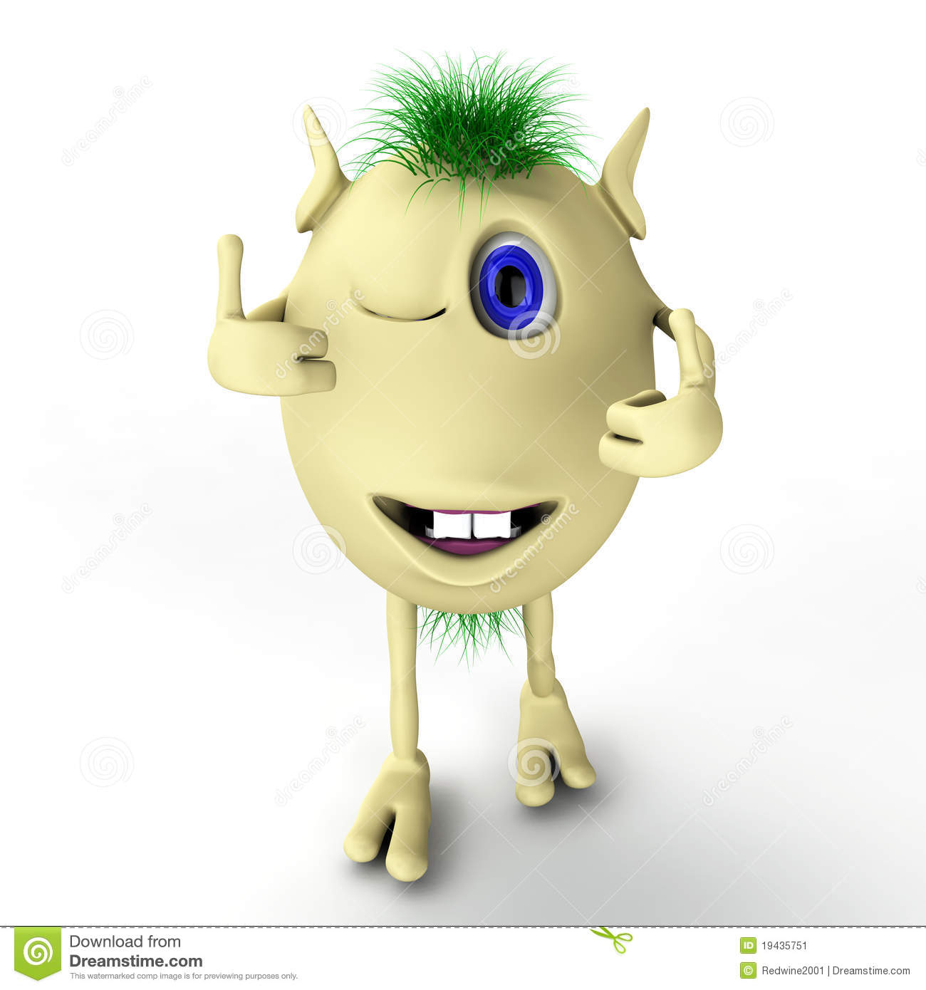 b892ec878 3d Funny Character Puppet With Thumbs-up Stock Illustration ...