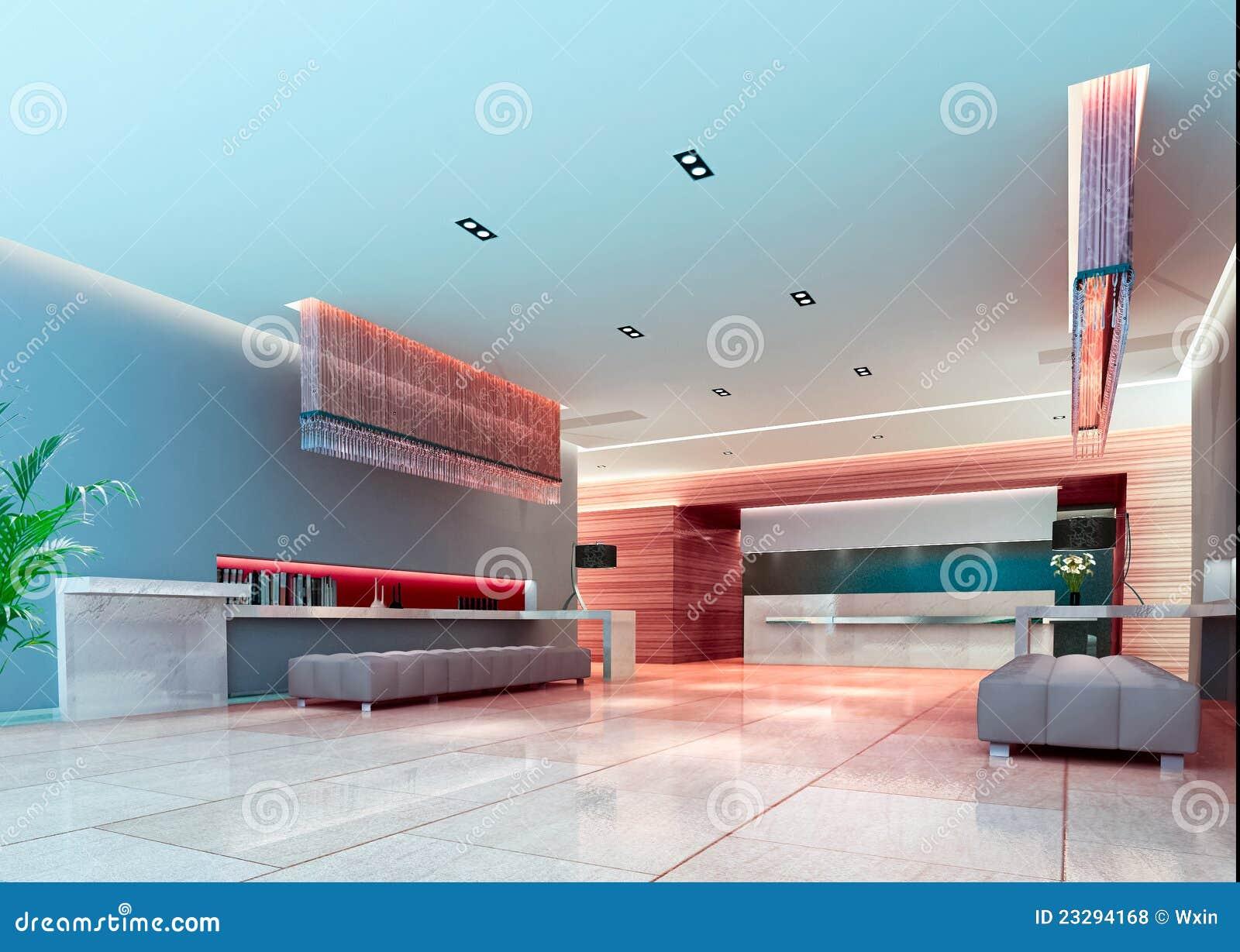 3d futurystyczna korytarz sala