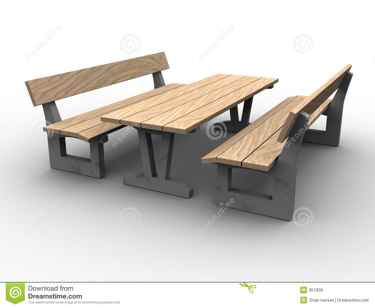 3d garden furniture stock illustration image of bench 951828 - Furnitur photos ...