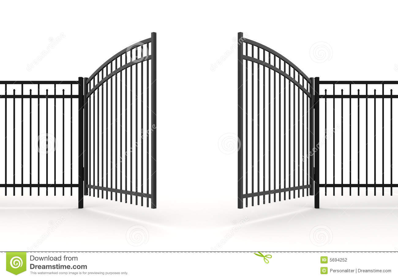 3d Gate Stock Photography - Image: 5694252