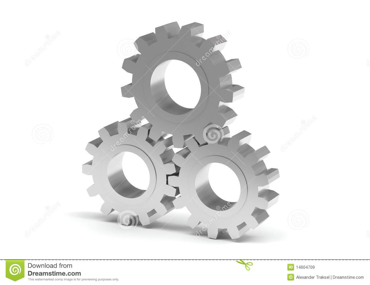 3D gear isolated on white