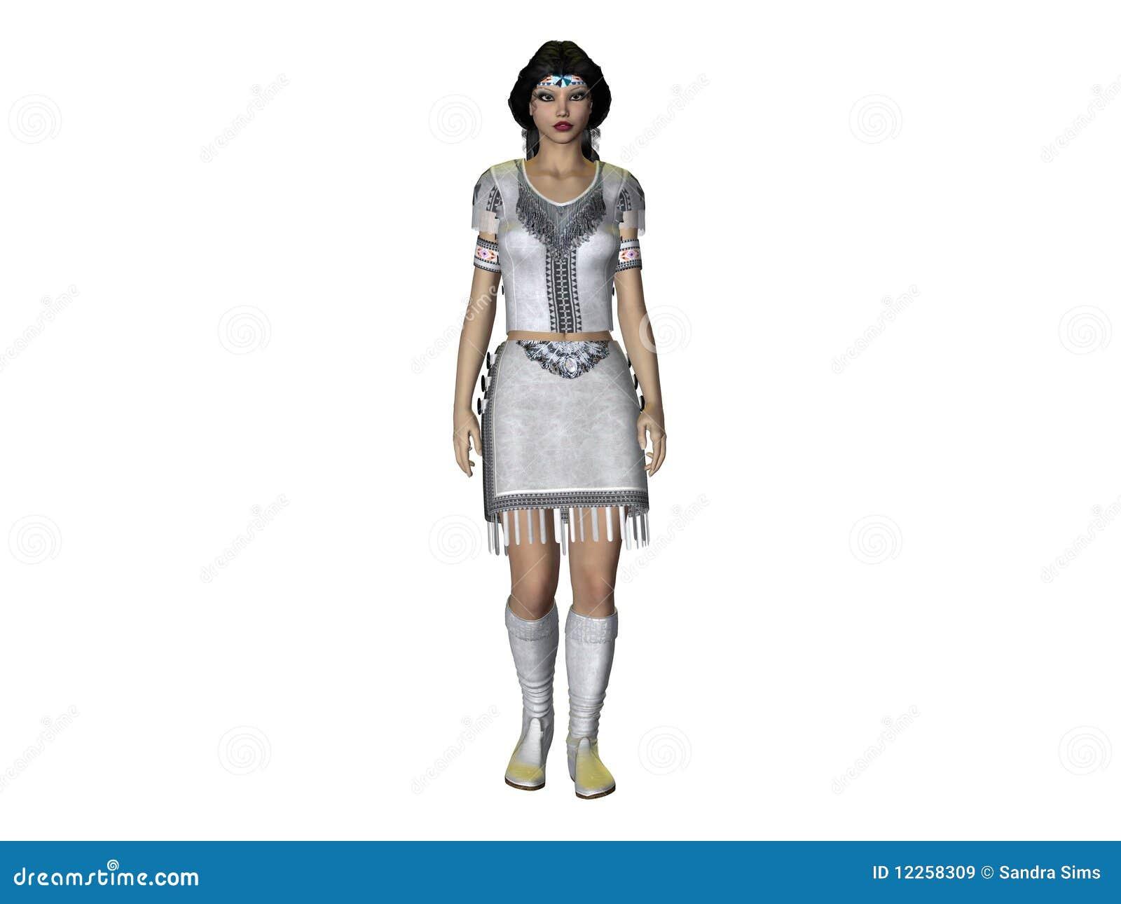 3D geef Indische Vrouw terug