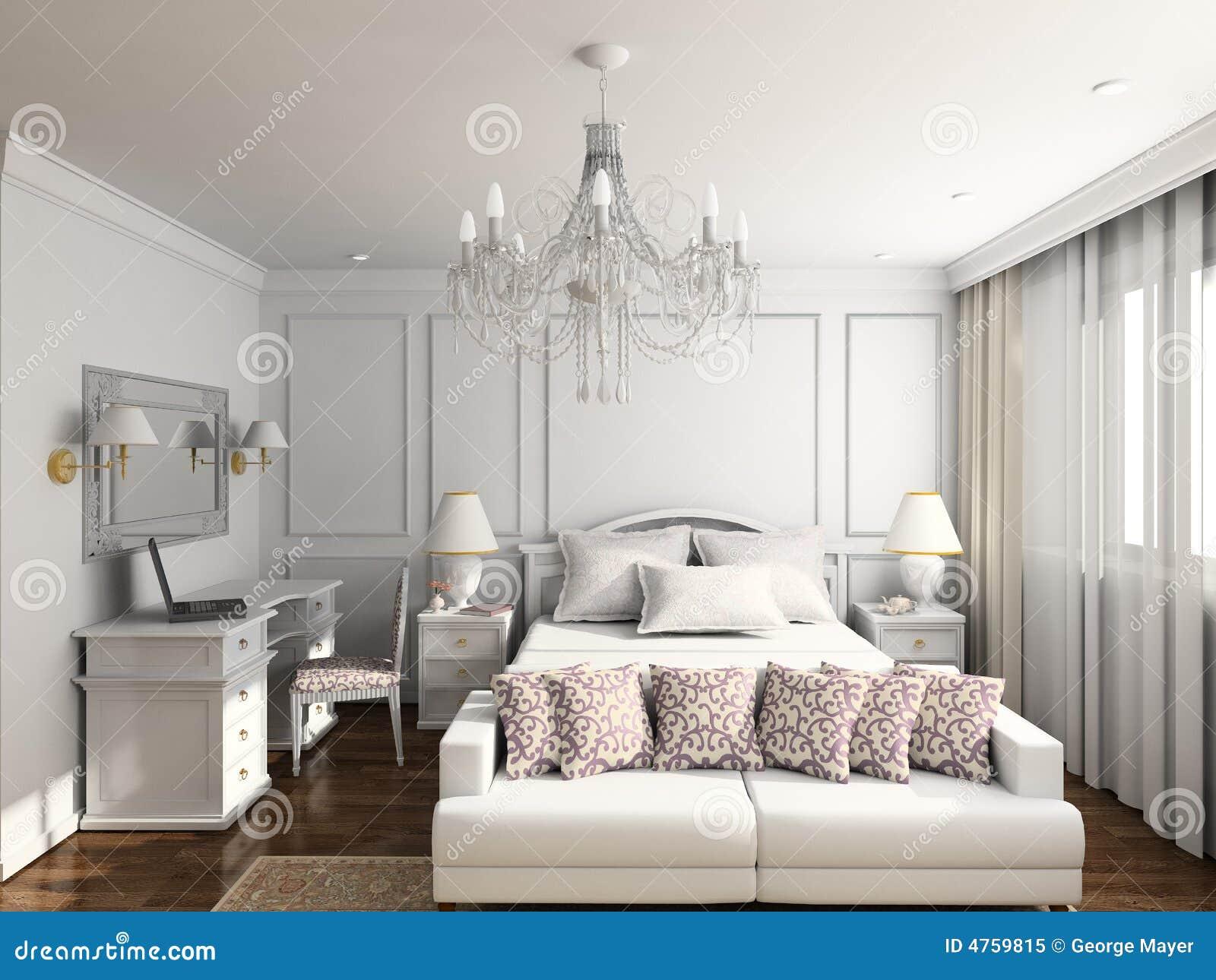 3d geef modern binnenland van slaapkamer terug royalty vrije stock foto afbeelding 4759815 for Slaapkamer deco