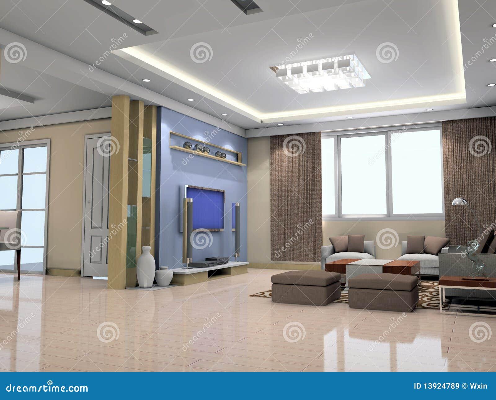 3d geef modern binnenland van woonkamer terug royalty vrije stock afbeeldingen afbeelding - Fotos van moderne woonkamer ...