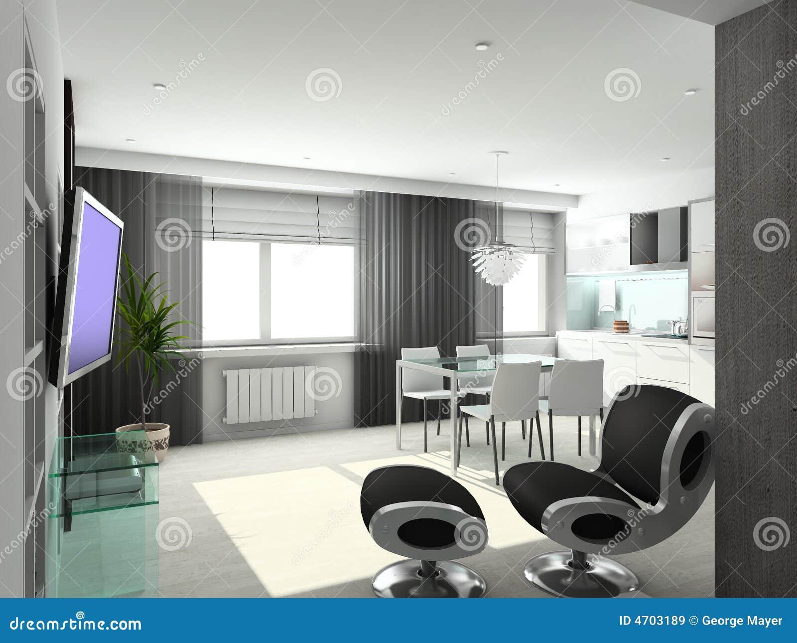 3d geef modern binnenland van woonkamer terug royalty vrije stock afbeeldingen afbeelding 4703189 - Fotos van moderne woonkamer ...