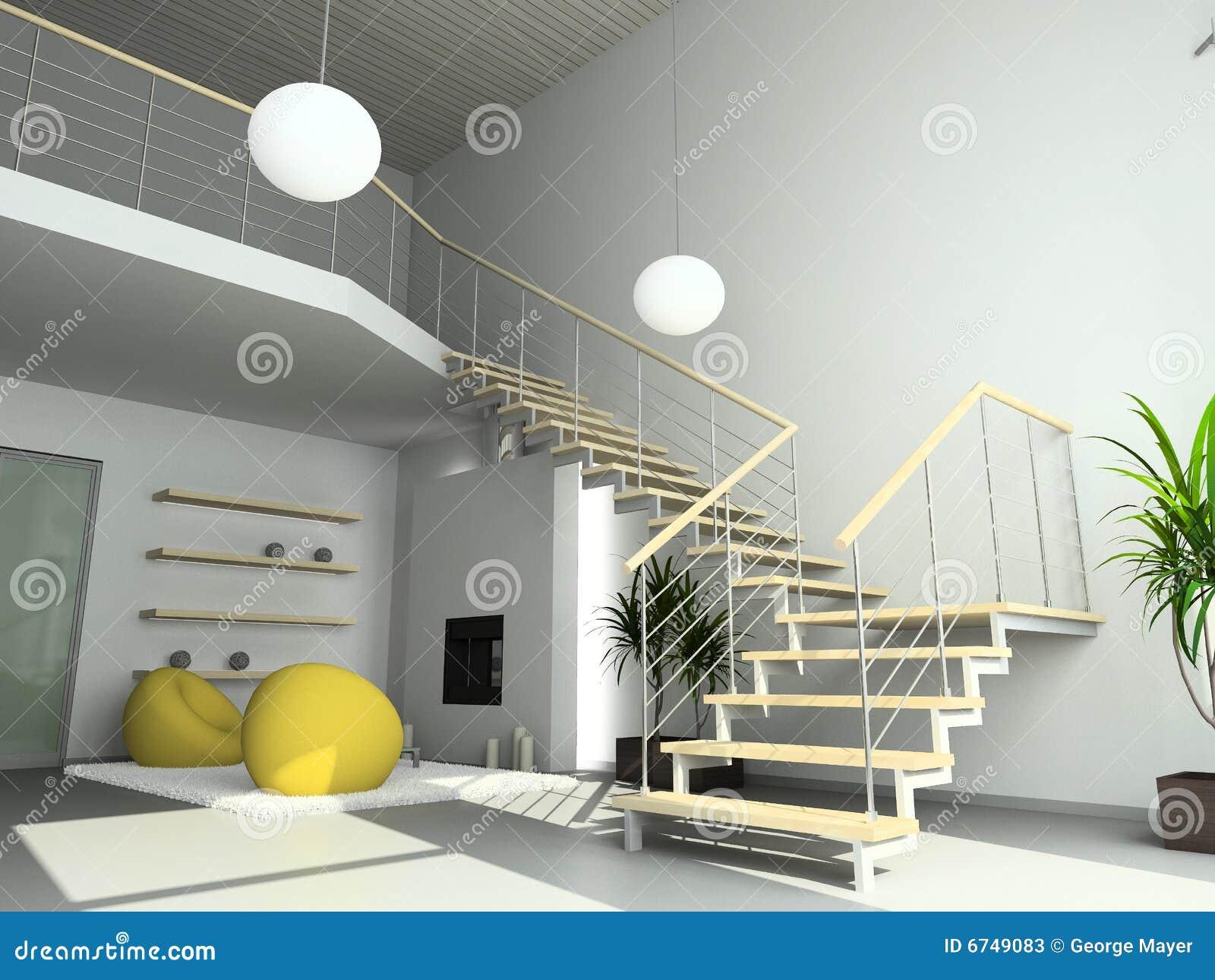 3d geef modern binnenland van woonkamer terug stock foto 39 s afbeelding 6749083 - Fotos van moderne woonkamer ...