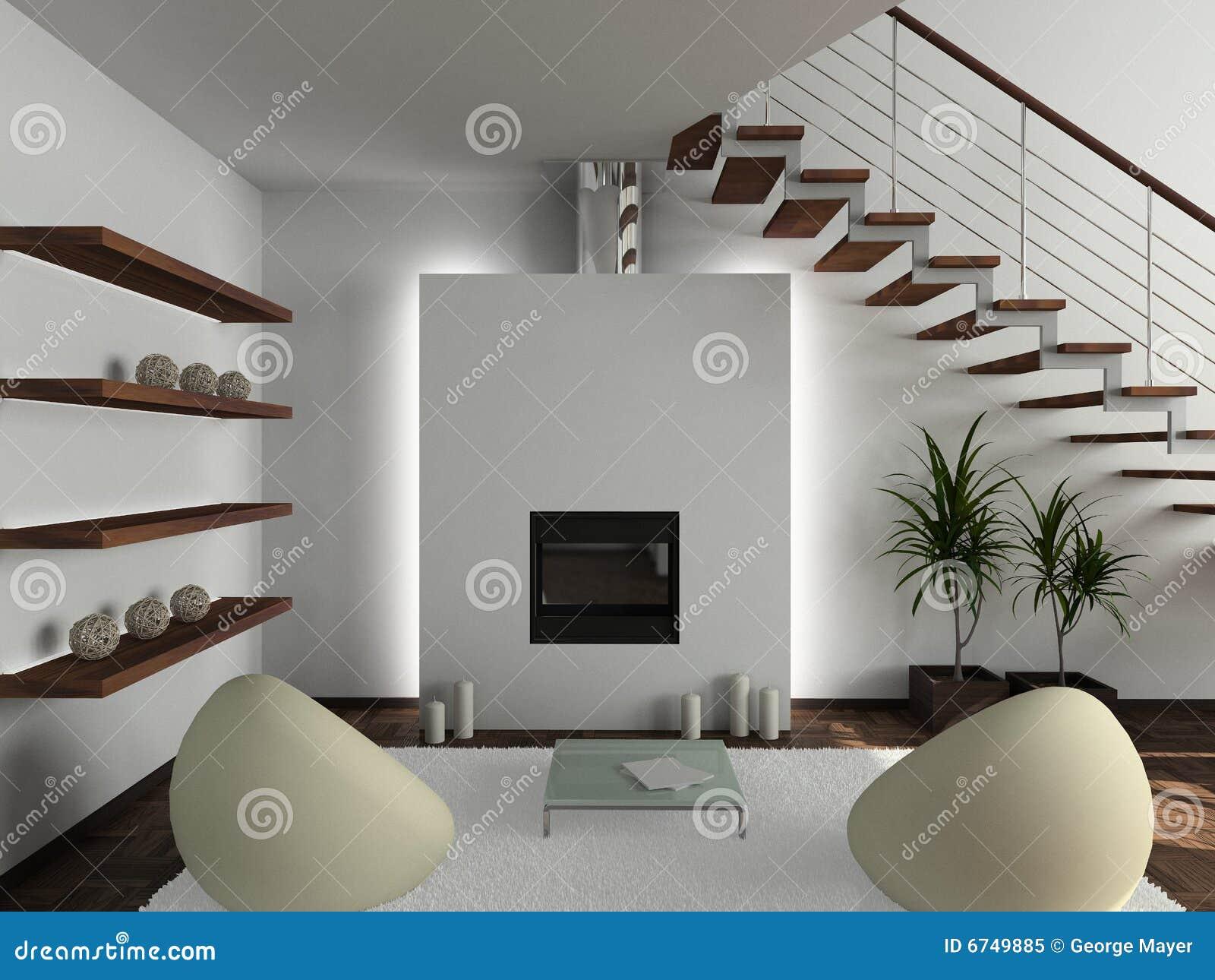 3d geef modern binnenland van woonkamer terug royalty vrije stock foto beeld 6749885 - Fotos van moderne woonkamer ...