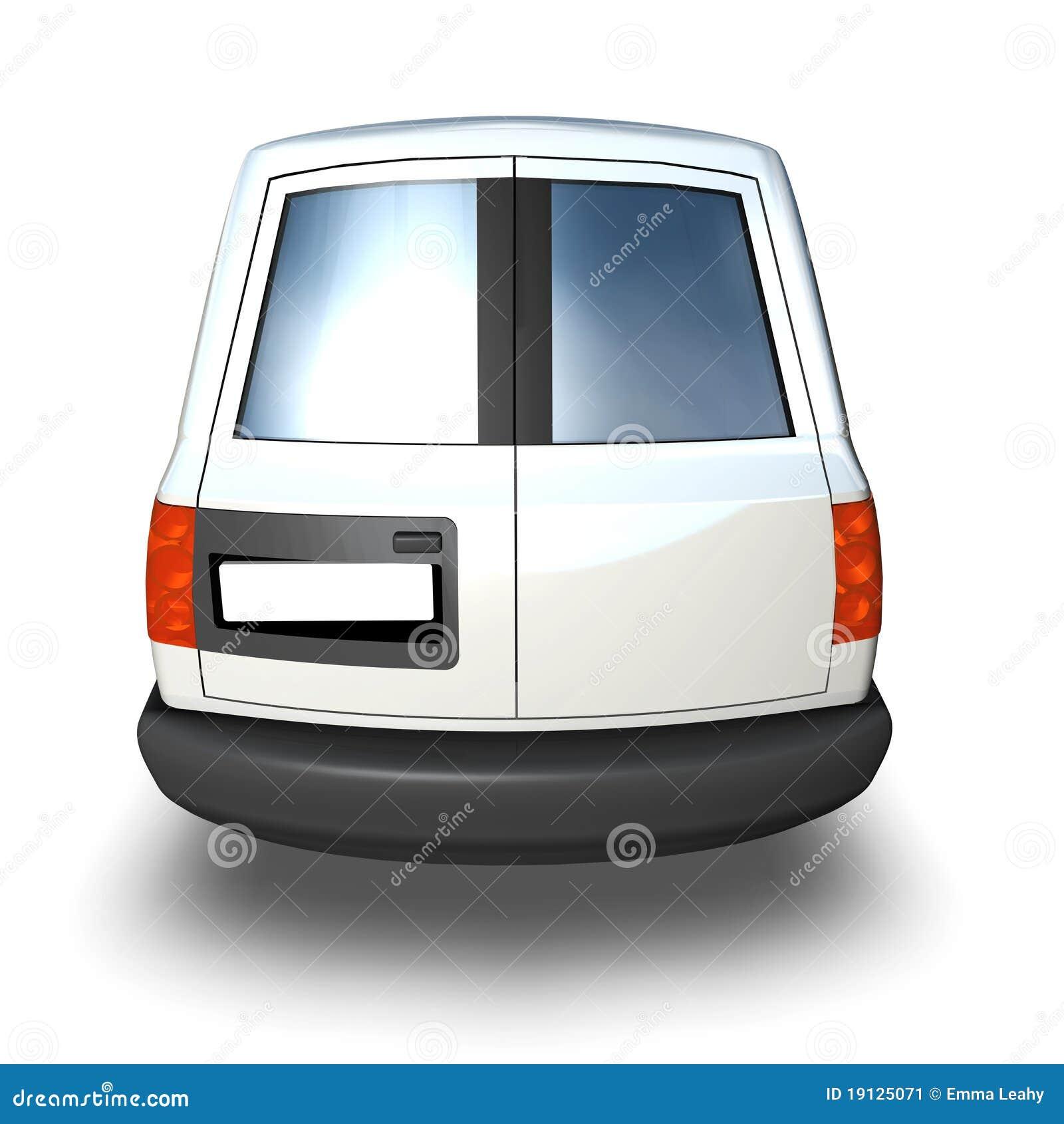 3d Generic Van Model - White Back