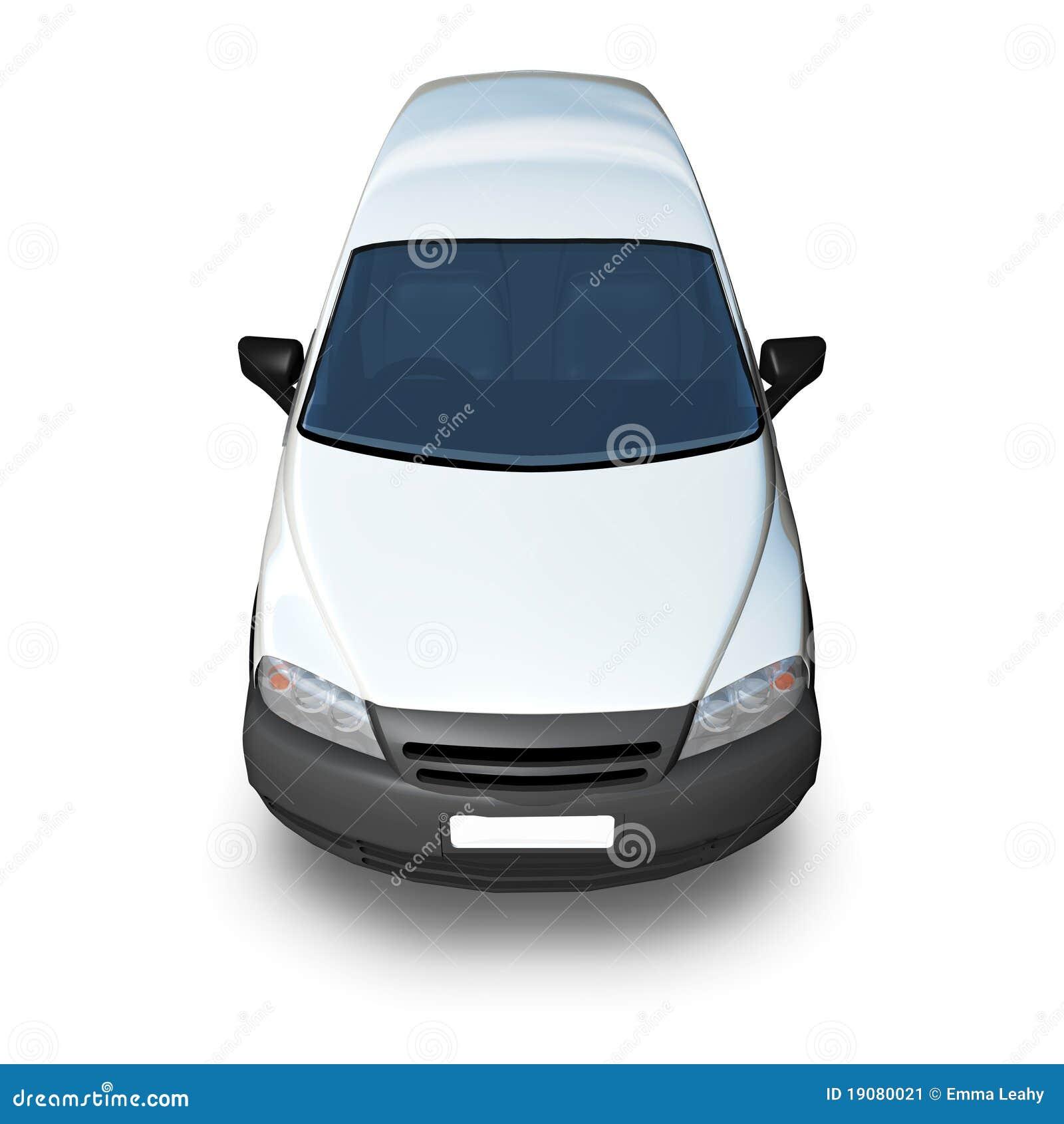 3d Generic Van Model - White High Front Stock Image ...