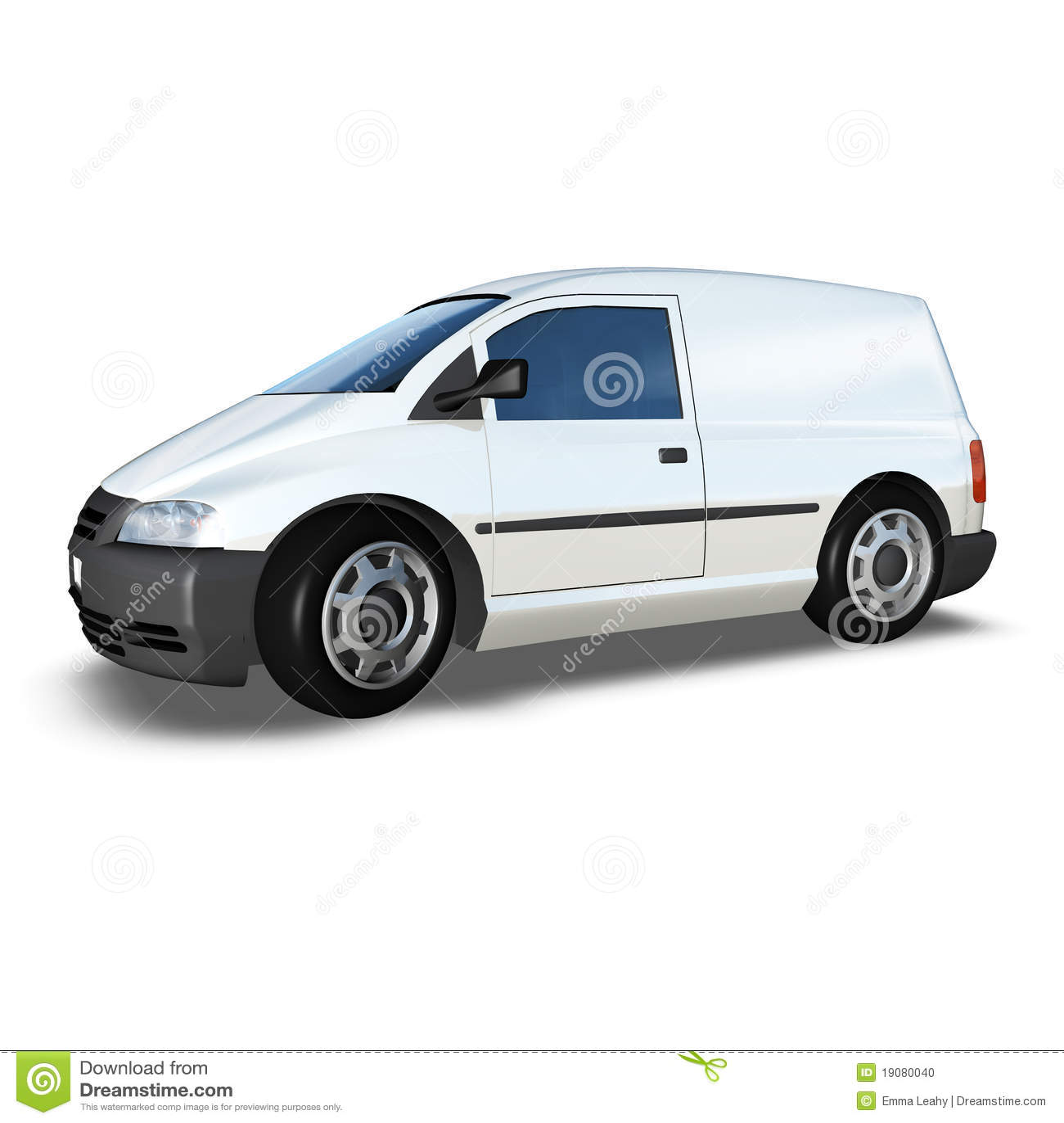 3d Generic Van Model - White Low Front Corner Stock Photo ...